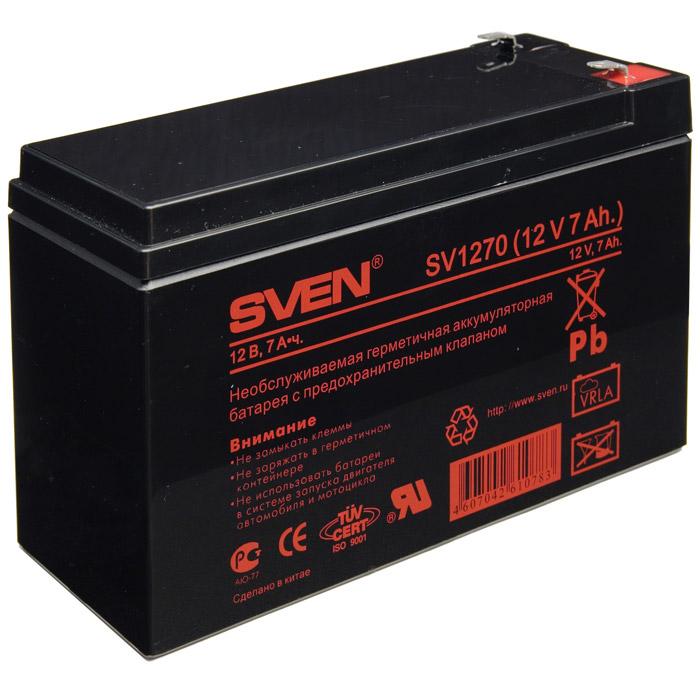 Аккумулятор SVEN SV 12V 7Ah аккумулятор