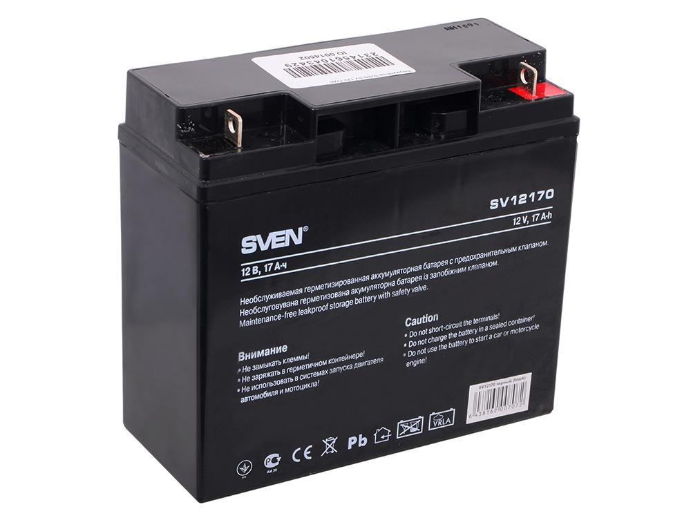 Аккумулятор SVEN SV 12V 17Ah аккумулятор для ибп sven sv 12v 9ah sv1290