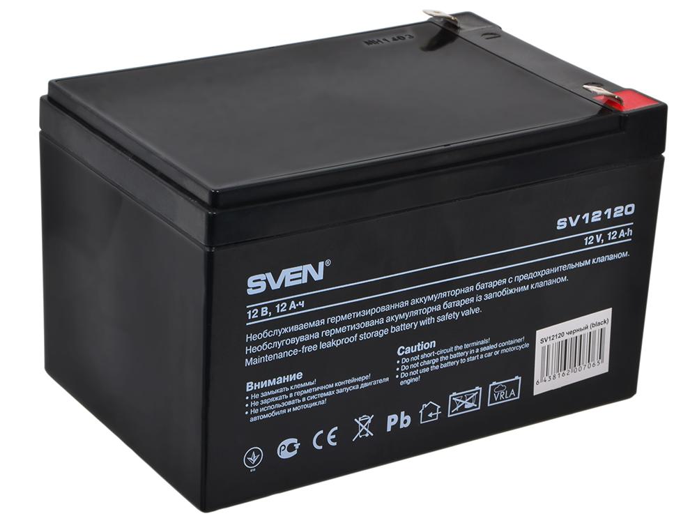 Аккумулятор SVEN SV 12V 12Ah стабилизатор sven avr slim 1000 lcd sv 012816