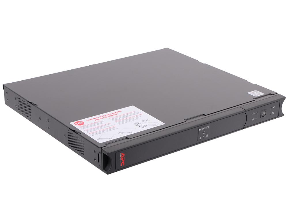 ИБП APC SC450RMI1U Smart-UPS 450VA/230W apc smart ups sc sc620i