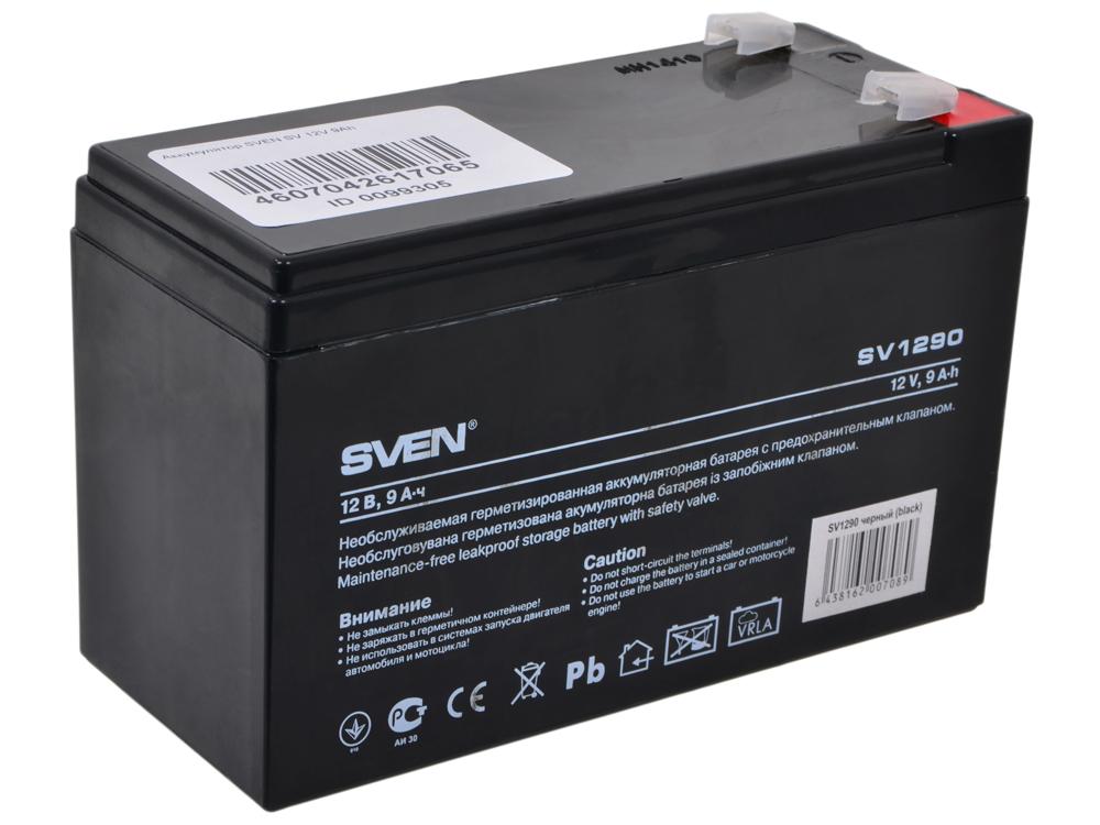 Аккумулятор SVEN SV 12V 9Ah стабилизатор sven avr slim 1000 lcd sv 012816