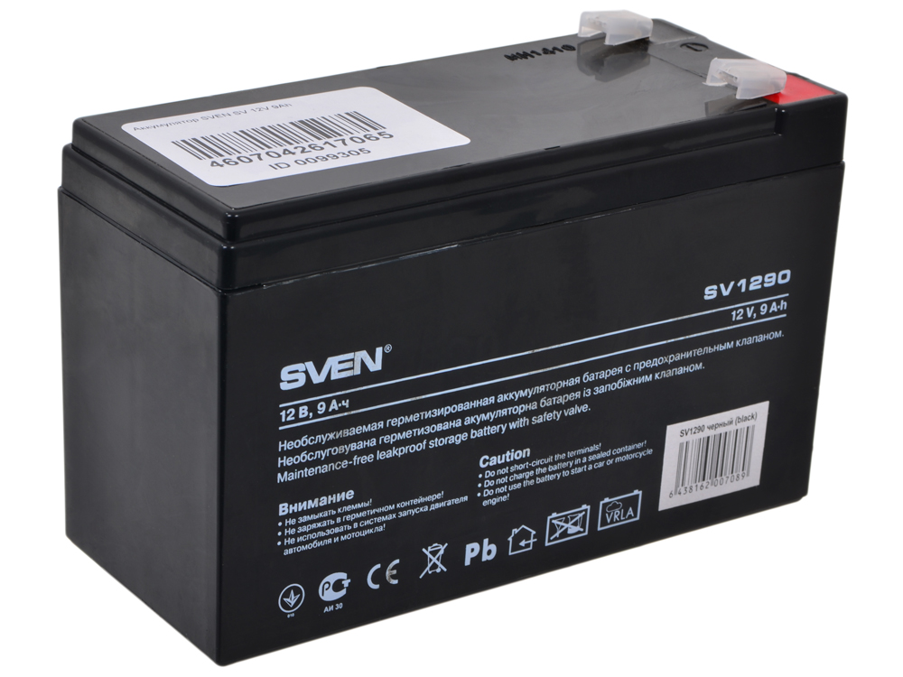 Аккумулятор SVEN SV 12V 9Ah аккумулятор