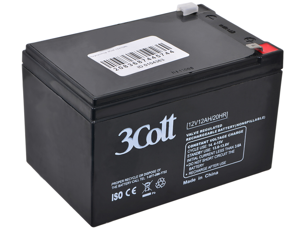Аккумулятор 3Cott 12V12Ah аккумулятор csb gp12120 f2 12v12ah