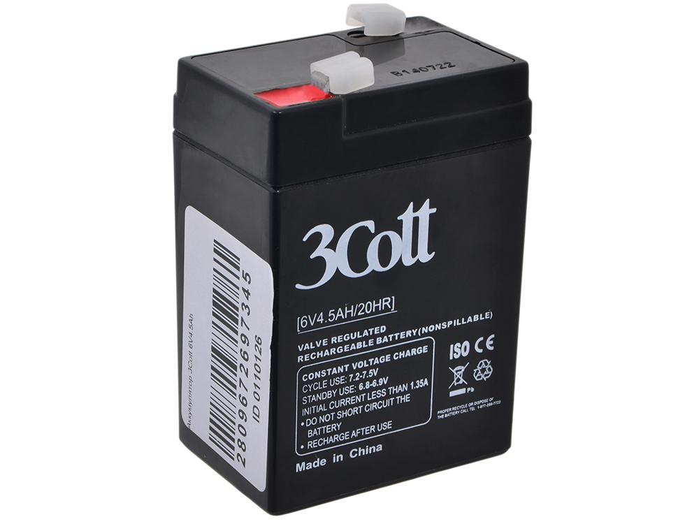 Аккумулятор для ИБП 3Cott 6V4.5Ah аккумулятор для ибп 3cott 12v 18ah