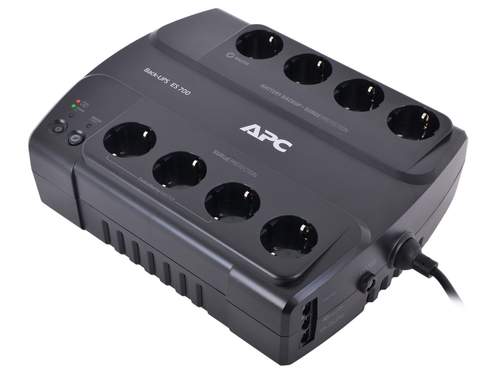 ИБП APC BE700G-RS Power-Saving Back-UPS ES 8 Outlet 700VA/405W ибп apc back ups bx700ui 390w 700va