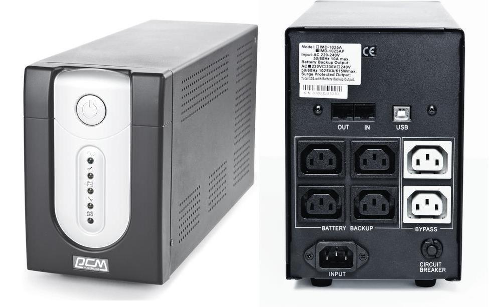 ИБП Powercom IMP-1500AP Imperial 1500VA/900W USB,AVR,RJ11,RJ45 (4+2 IEC)* ибп cyberpower value1500eilcd 1500va 900w 6 iec