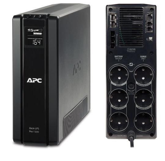 ИБП APC BR1500G-RS Back-UPS Pro 1500VA/865W ибп apc smt1500rmi2u smart ups 1500va 1000w lcd 2u rackmount