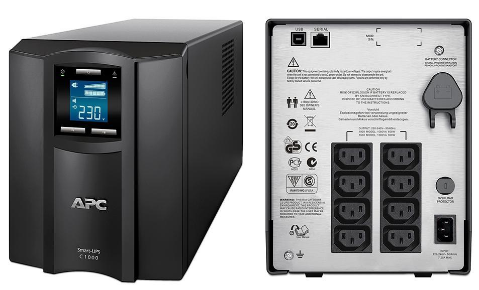ИБП APC SMC1000I Smart-UPS 1000VA/600W ибп apc smc1000i smart ups 1000va 600w