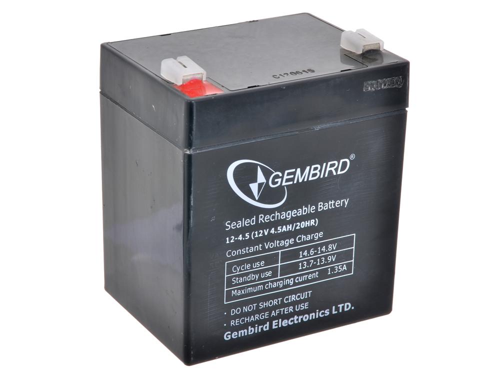 Аккумулятор для ИБП Gembird BAT-12V4.5AH аккумулятор для ибп gembird bat 12v7ah