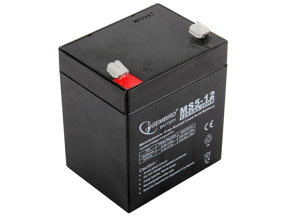 Аккумулятор для ИБП Gembird BAT-12V5AH аккумулятор для ибп gembird bat 12v7ah