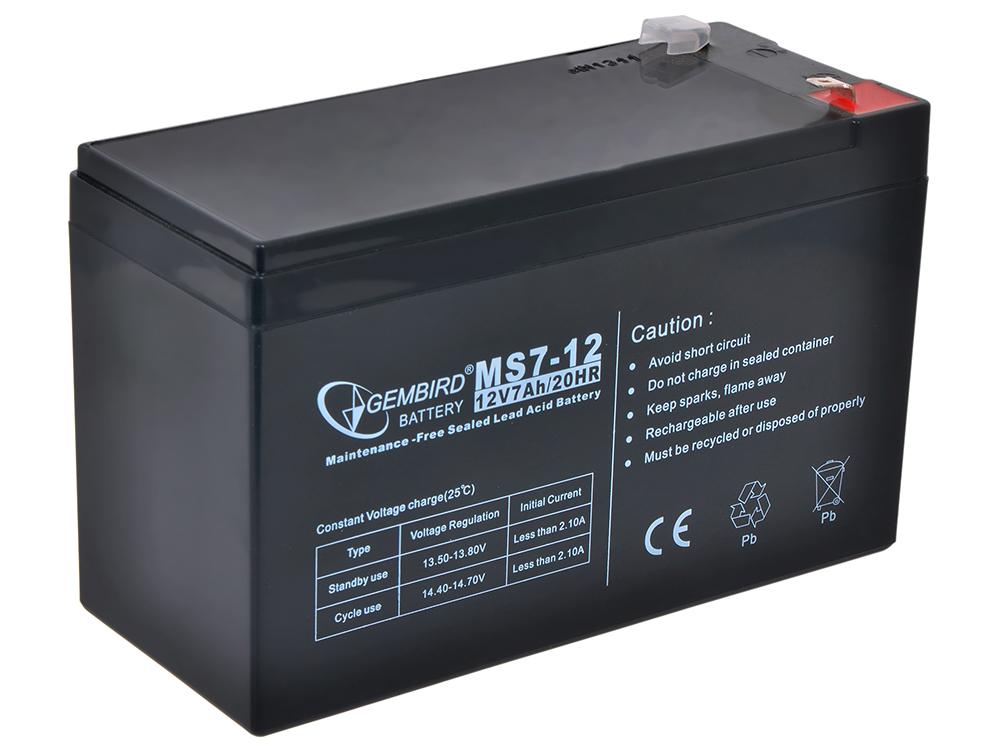 Аккумулятор для ИБП Gembird BAT-12V7AH аккумулятор для ибп gembird bat 12v7ah