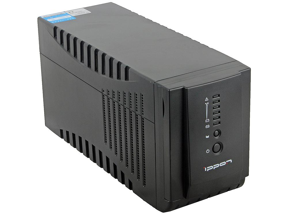 ИБП Ippon Smart Power Pro 2000 black 2000VA/1200W RS-232,USB (4+2 IEC) ибп powercom imp 2000ap imperial 2000va 1200w usb avr rj11 rj45 4 2 iec