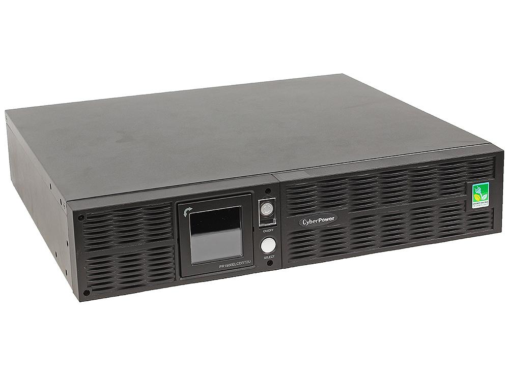 ИБП CyberPower PR1500ELCDRT2U 1500VA/1350W USB/RS-232/Dry/EPO/SNMPslot/RJ11/45 (8 IEC)