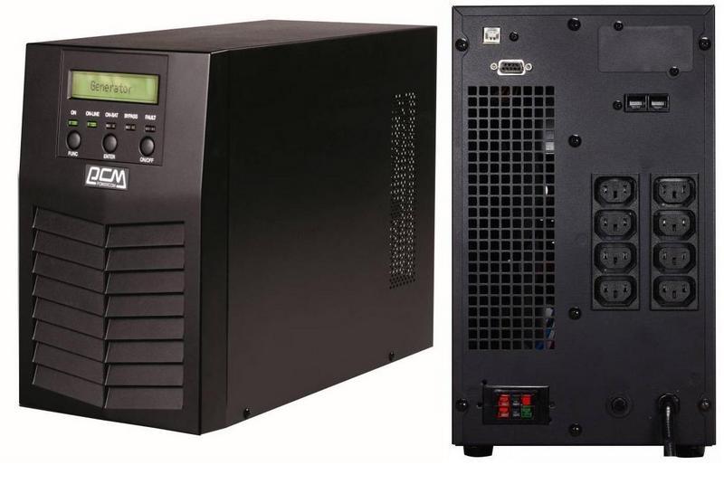 ИБП Powercom MAS-2000 2000VA/1800W USB,RS232 (8 х IEC)* ибп fsp dp 2000 2000va 1200w 6 iec