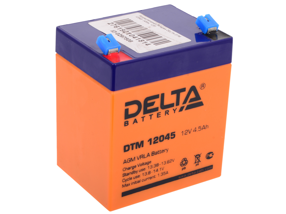 все цены на  Аккумуляторная батарея DELTA DTM 12045  (4.5Ач, 12В)  онлайн
