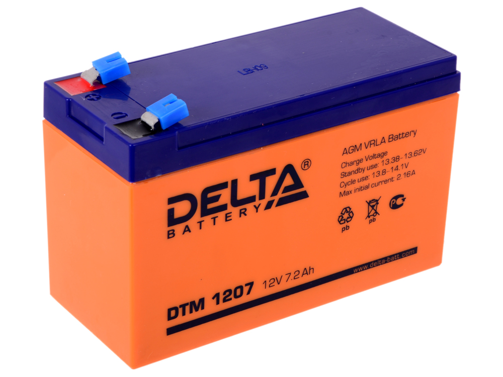 DTM 1207 delta battery dt 1207 12v 7ah