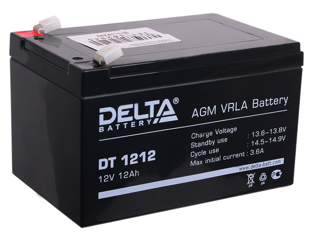 DT 1212 delta battery dt 1207 12v 7ah