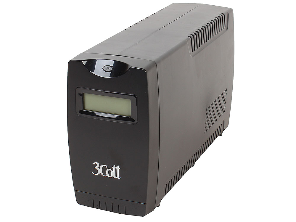 ИБП 3Cott Smart 650VA/360W Display,USB,AVR,RJ11 (4 IEC)