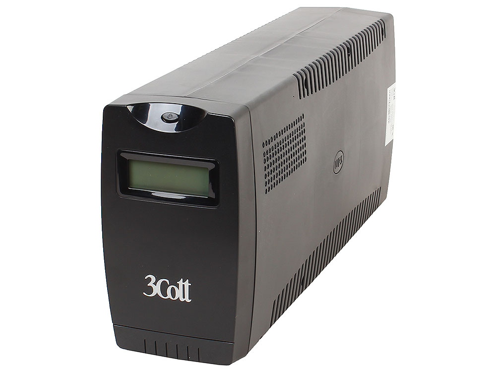ИБП 3Cott Smart 1000VA/600W Display,USB,AVR,RJ11 (4+2 IEC)