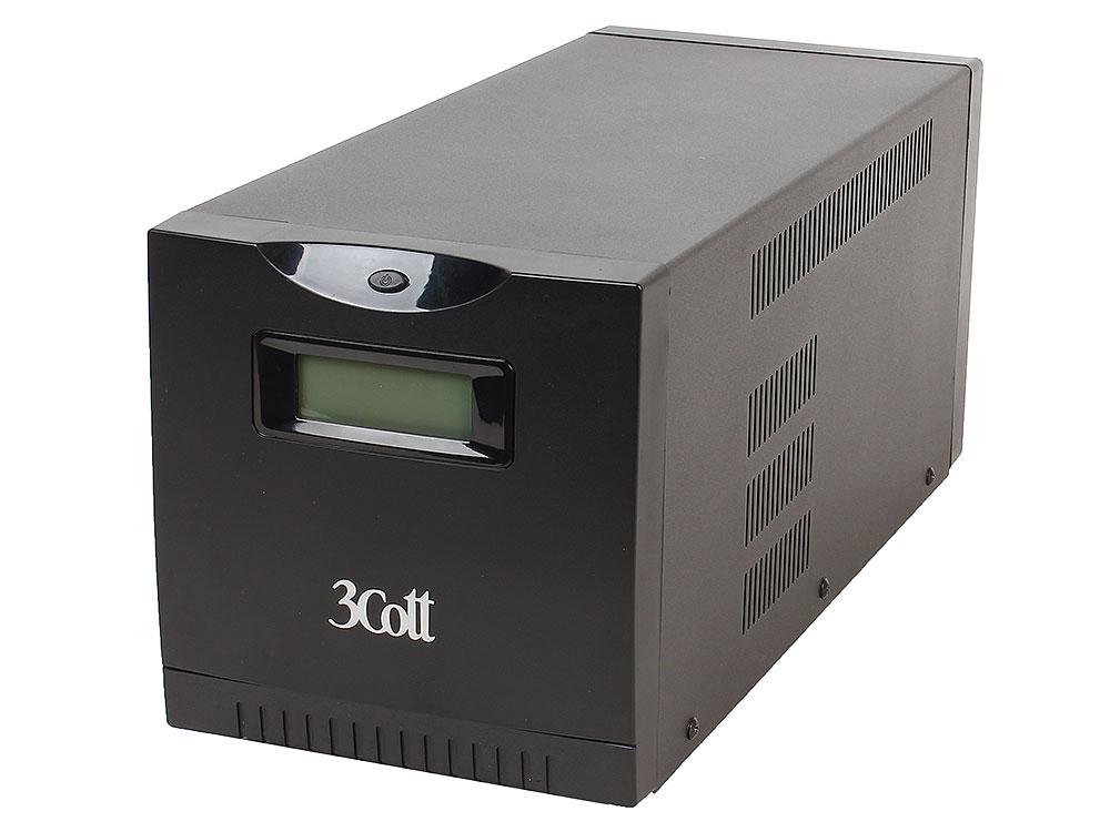 ИБП 3Cott Smart 2000VA/1200W Display,USB,AVR,RJ45 (6+2 IEC)