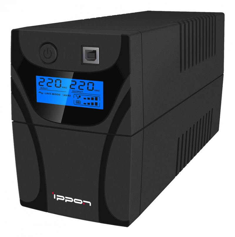 ИБП Ippon Back Power Pro LCD 500 500VA/300W USB (3 x IEC)