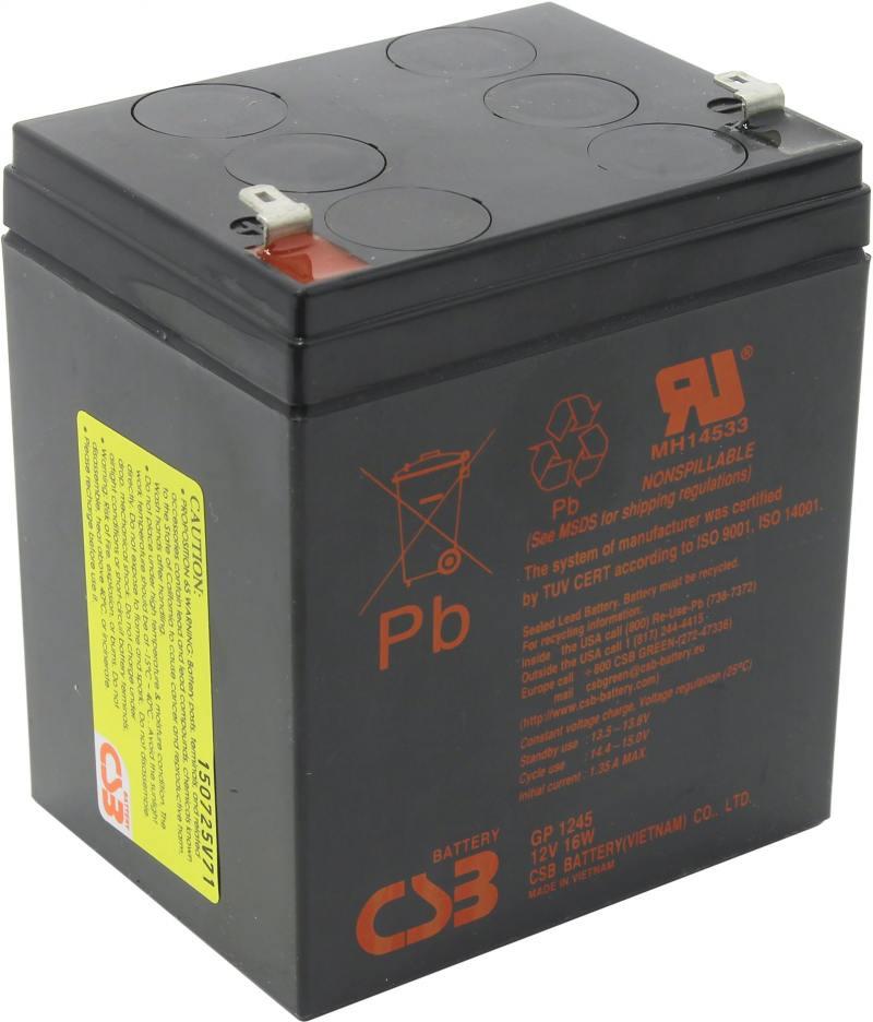 Батарея WBR GP 1245 (16W) 12V/4,5AH