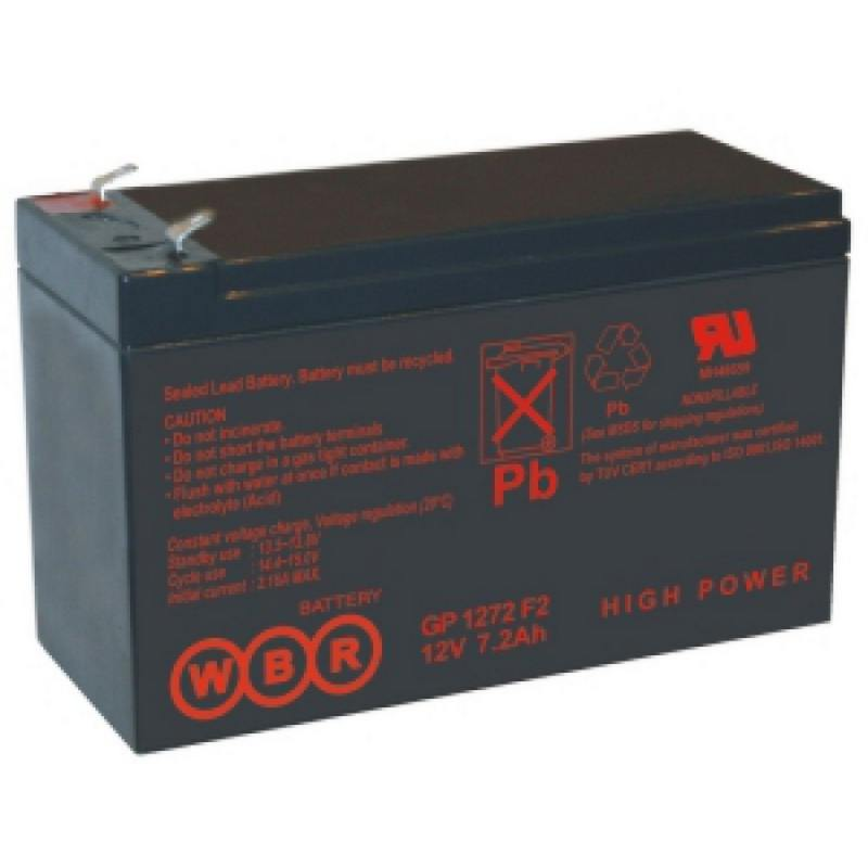 Батарея WBR GP 1272 F2 (28W) 12V/7.2AH