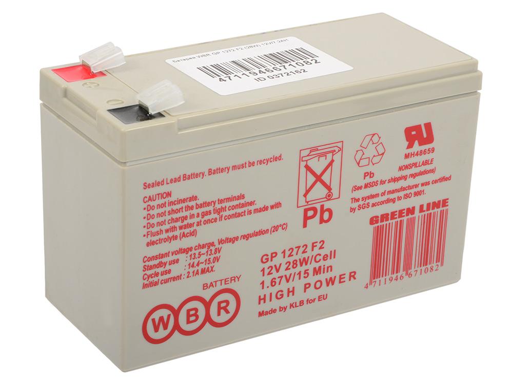 Батарея WBR GP 1272 F2 (28W) 12V/7.2AH батарея аккумуляторная csb gp1272 f2