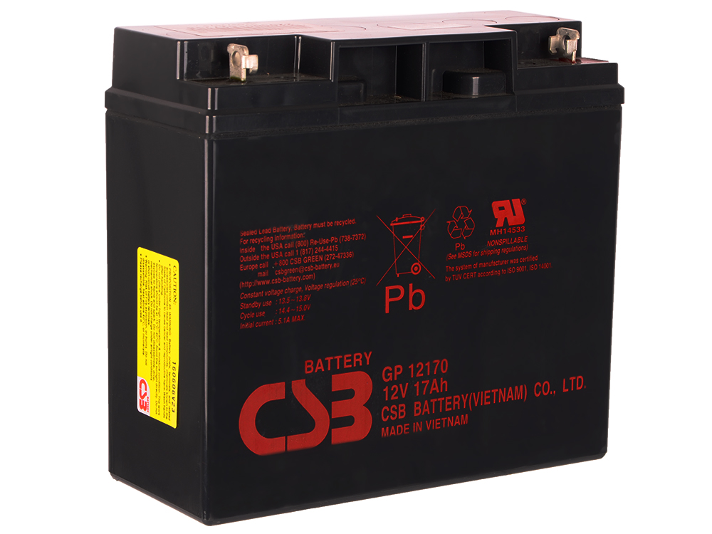 Батарея CSB GP12170 12V/17AH B3 батарея аккумуляторная csb gp1272 f2