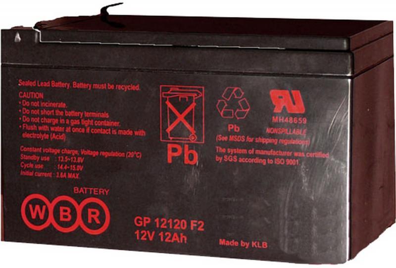 Батарея WBR GP 12120 F2 12V/12AH батарея аккумуляторная csb gp1272 f2