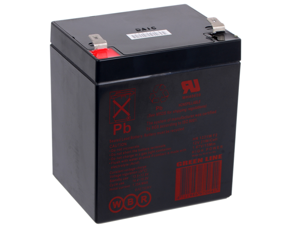 Батарея WBR HR 1221 W F2 CEII 12V/5AH батарея ginzzu gb 1245 12v 4 5ah