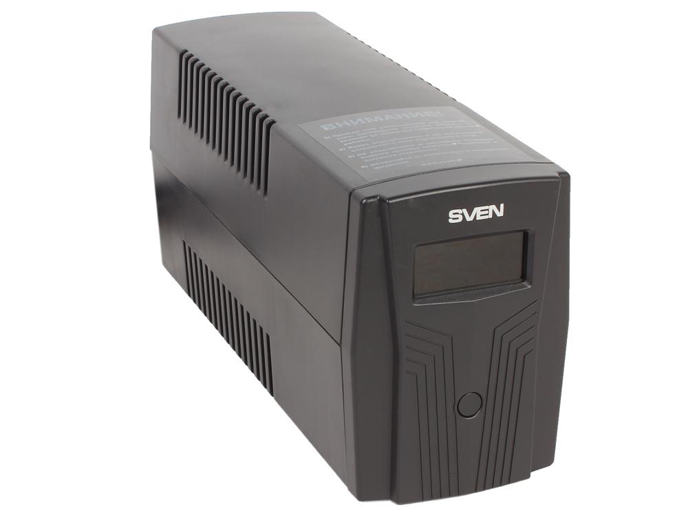 ИБП SVEN Pro 650 650VA/390W LCD, USB, RJ-45 (2 EURO) dso 150 2 0 lcd usb dual channel oscilloscope