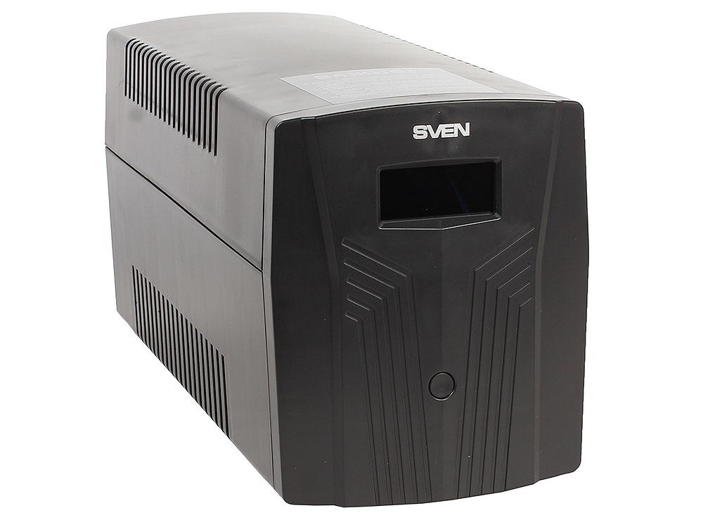 ИБП SVEN Pro 1500 1500VA/900W LCD, USB, RJ-45 (3 EURO) ибп sven pro 400