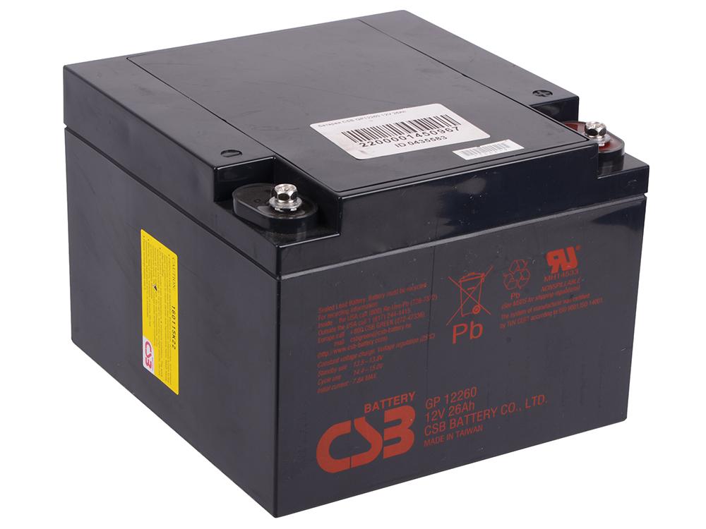 Батарея CSB GP12260 12V 26Ah батарея csb gp 645 6v 4 5ah