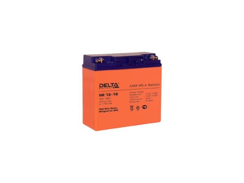 Батарея Delta HR 12-18 18Ач 12B батарея delta hr 6 4 5 6v 4 5ah