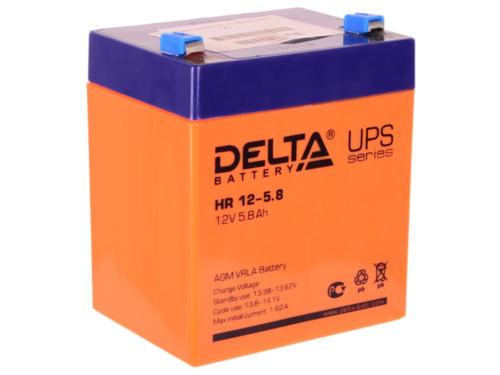 Батарея Delta HR 12-5.8 5.8Ач 12B hama h 95507 чехол для внешнего жесткого диска 2 5 red