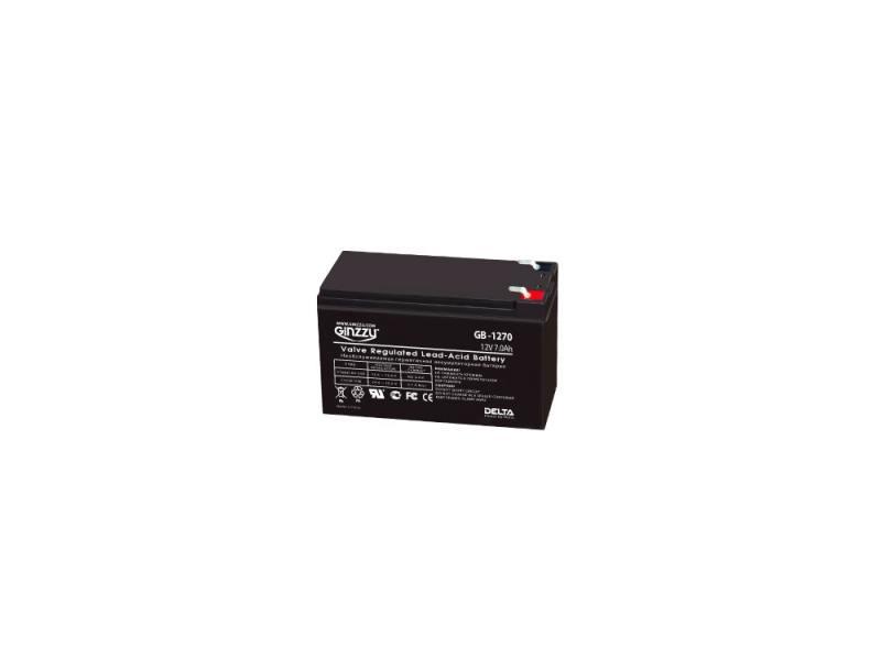 Батарея Ginzzu GB-1270 12V/7Ah батарея ginzzu gb 1245 12v 4 5ah