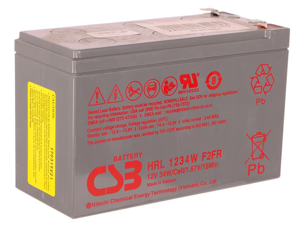 Батарея CSB HRL1234W 12V/9AH батарея аккумуляторная csb gp1272 f2