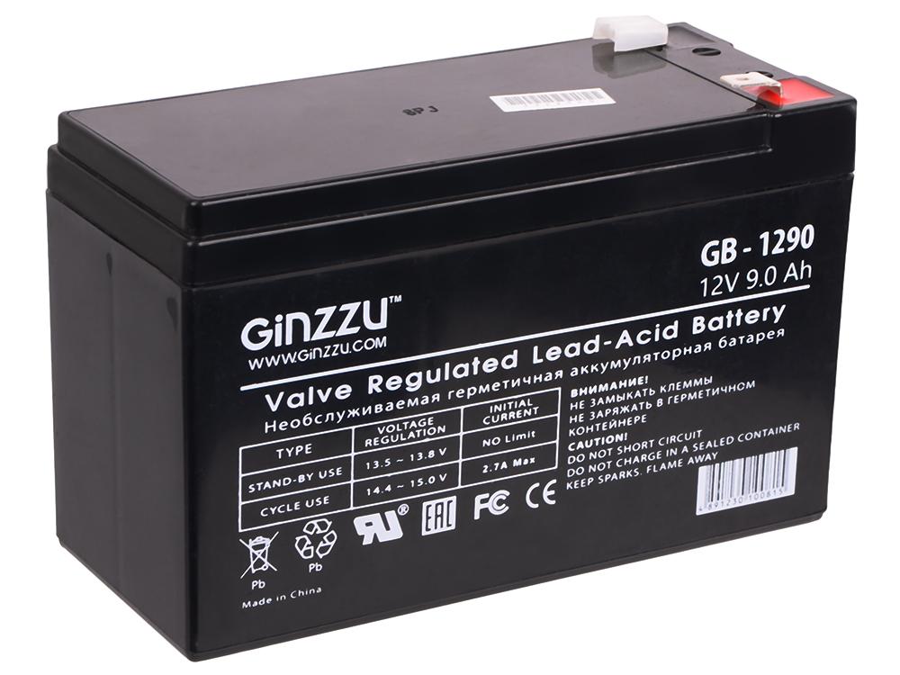 Батарея Ginzzu GB-1290 12V/9Ah батарея ginzzu gb 1245 12v 4 5ah