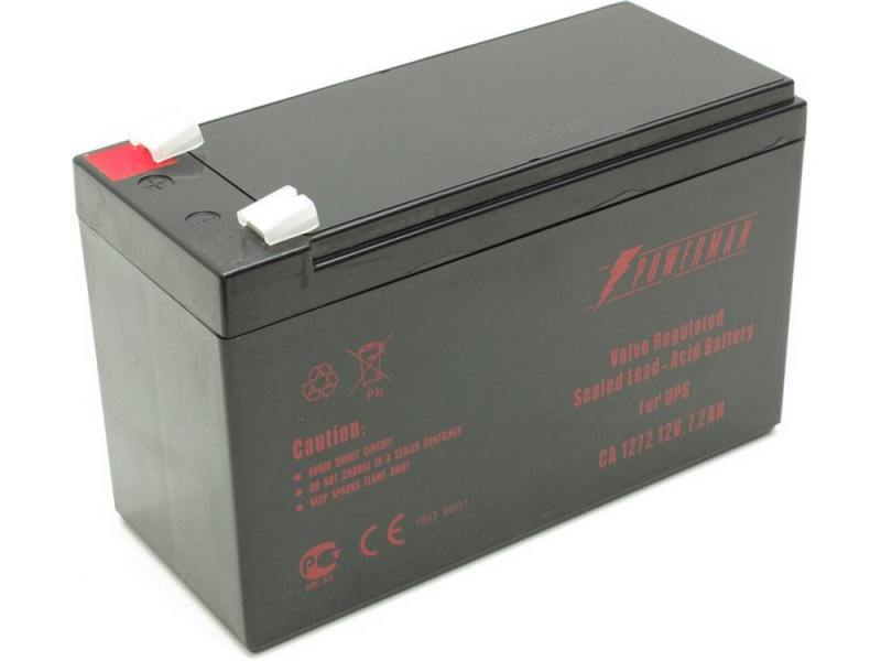 Батарея Powerman CA1272 PM/UPS 12V/7.2AH батарея powerman ca12120 ups 12v 12ah