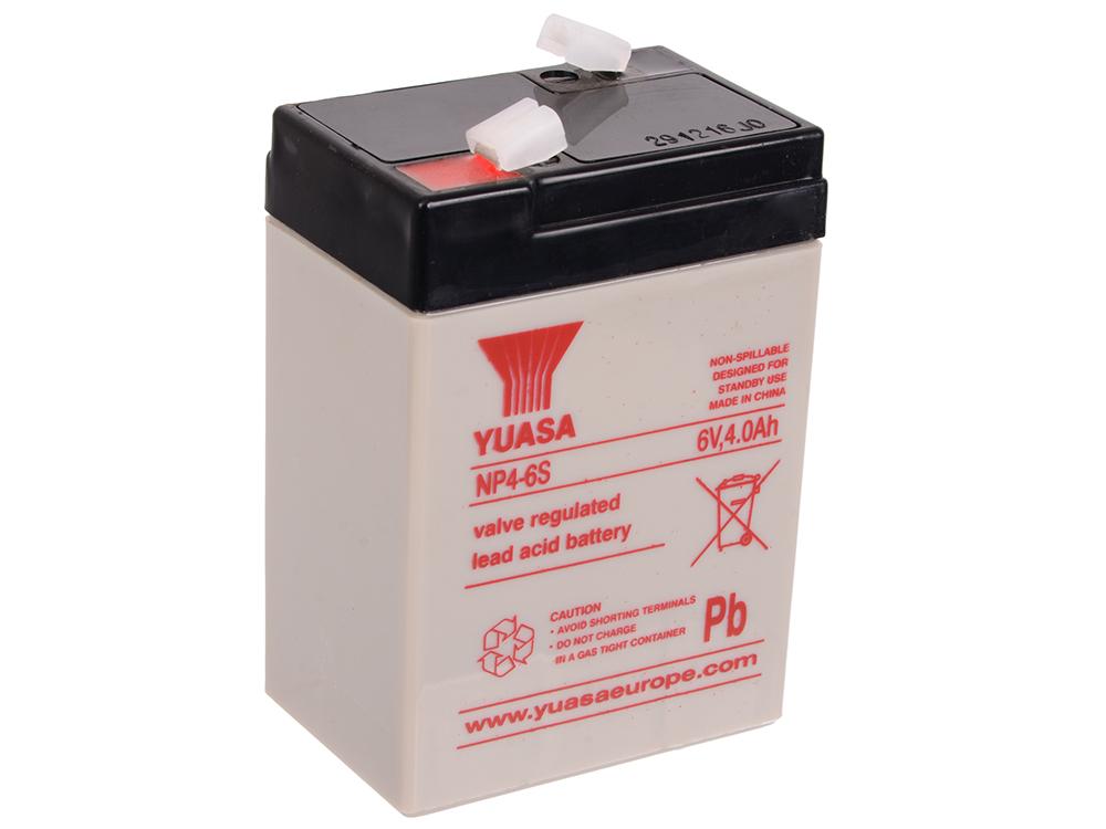 Батарея Yuasa NP4-6 6V/4Ah мотоцикл эл shanghai inter world серебряный аккум 6v 4ah 12w 86092