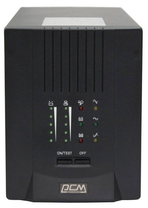 ИБП Powercom Smart King Pro+ SPT-3000 2100Вт 3000ВА черный ибп apc smart ups c smc3000i rs 2100вт 3000ва черный