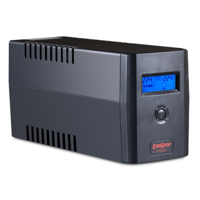 ИБП Exegate ULB-800 LCD 480Вт 800ВА черный EP212517RUS vga 2av lcd driver board for hsd062idw1 hsd070idw1 hsd080idw1 800 480 lcd panel