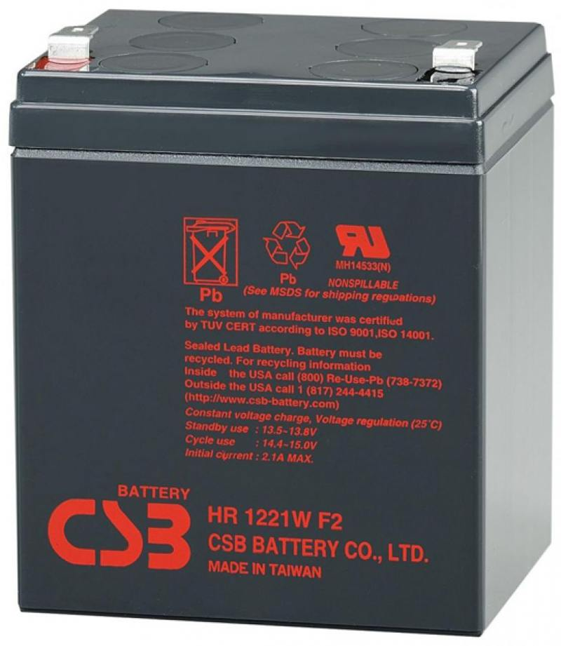 Батарея CSB HR1221WF2  12V/5AH батарея csb gp1245 12v 4 5ah