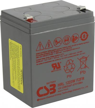 Батарея CSB HRL1223W 12V/5.8AH батарея аккумуляторная csb gp1272 f2