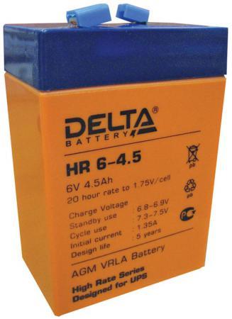 Батарея Delta HR 6-4.5 4.5Ач 6Bт батарея delta hr 6 4 5 6v 4 5ah
