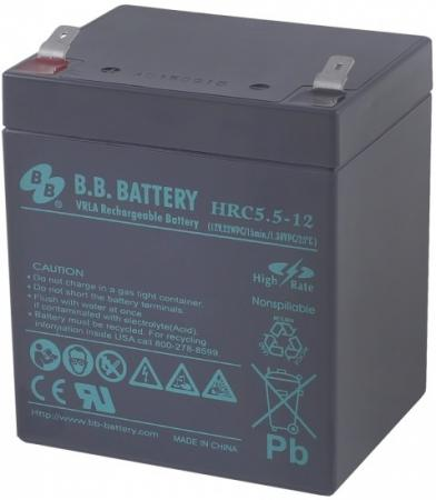 Батарея B.B. Battery HRC 5.5-12 5Ач 12B us eu free tax electric bike battery 36v 15ah water bottle 18650 li ion battery 36v 500w e bike kettle battery with charger bms