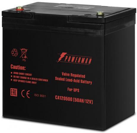 Батарея Powerman CA12500 12V/50AH батарея powerman ca1290 12v 9ah