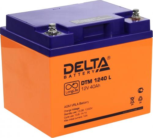 Батарея Delta DTM 1240 L 40Ач 12B new original dvp48eh00r3 delta plc eh3 series 100 240vac 24di 16do relay output