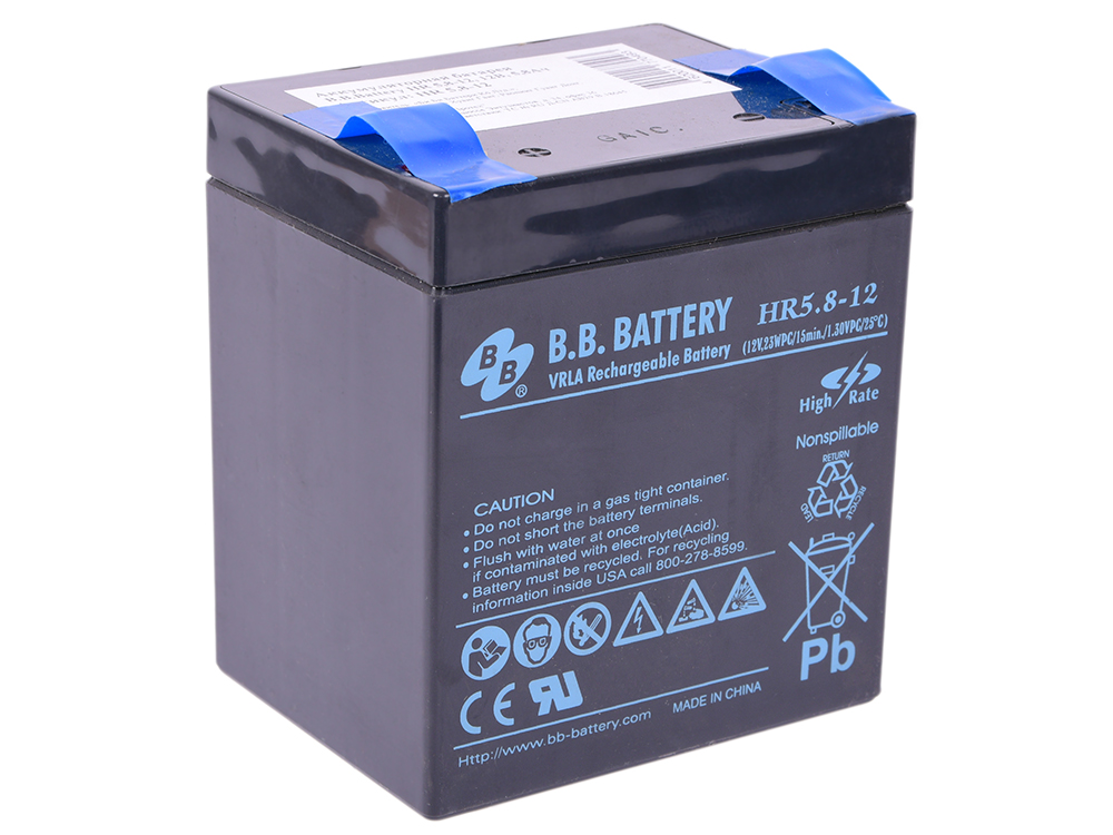 Батарея B.B. Battery HR5.8-12 5.8Ач 12B hd 12b